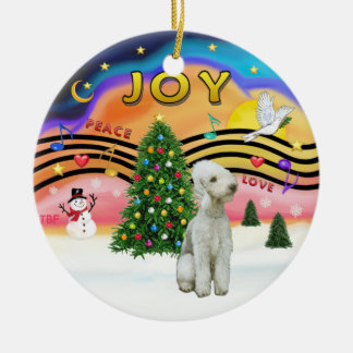 Xmas Music 2 - Bedlington Terrier Ceramic Ornament
