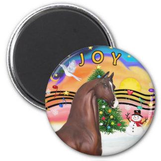Xmas Music 2 - Brown Arabian Horse Magnet