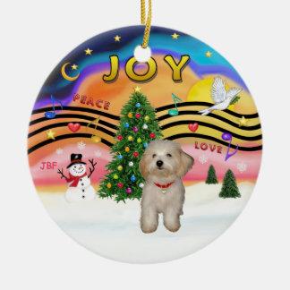 Xmas Music 2 - Havanese puppy Ceramic Ornament