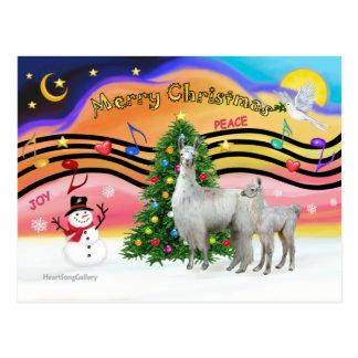 Xmas Music 2 - Llama Mama and Baby Postcard