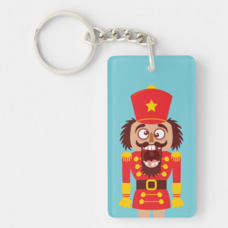 Xmas nutcracker breaks its teeth and goes nuts key ring