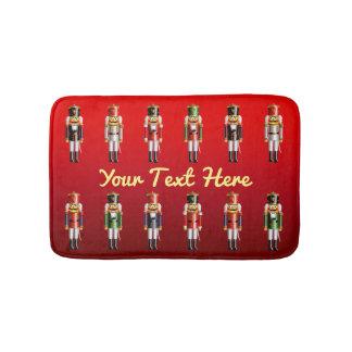Xmas Nutcracker Toy Soldiers Army Bath Mat