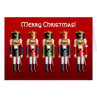 Xmas Nutcracker Toy Soldiers in Uniforms Card