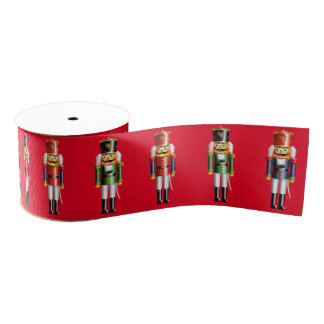 Xmas Nutcrackers Grosgrain Ribbon