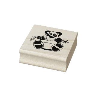 Xmas Panda Christmas Rubber Stamp