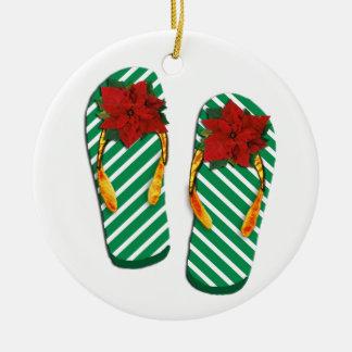 Xmas Party Flip Flops Ornaments