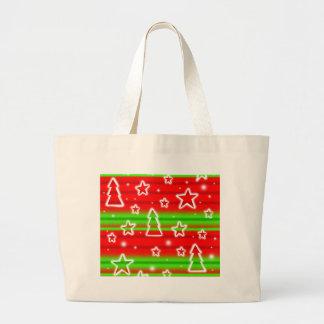 Xmas pattern large tote bag