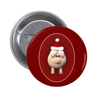 Xmas Piggy 6 Cm Round Badge
