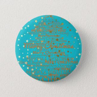 Xmas Season 6 Cm Round Badge