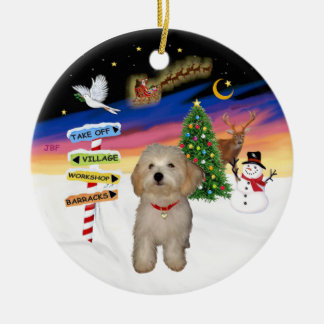 Xmas Signs - Havanese Puppy Ceramic Ornament