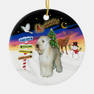 Xmas Signs - Wheaten Terrier #9 Ceramic Ornament