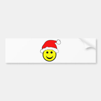 Xmas Smiley Face Bumper Stickers