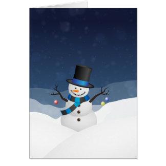 Xmas Snowy Snowman Card