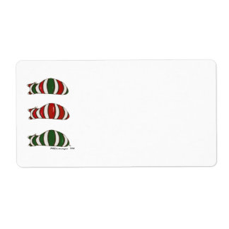 Xmas Stacking Cats Avery Label Shipping Label