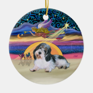 Xmas Star - Petit Basset 8 Ceramic Ornament