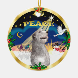 Xmas Sunrise -  Irish Wolfhound Ceramic Ornament