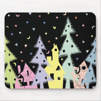 Xmas town1 mouse pad