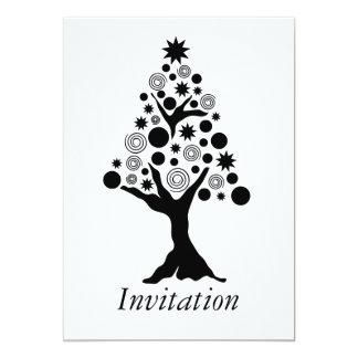 Xmas tree 2 W&B Invitation