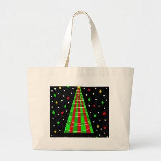 Xmas tree large tote bag