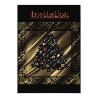 """""""Xmas Tree Magic invitation card""""* 5"""" X 7"""" Invitation Card"""