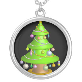 Xmas tree personalized necklace
