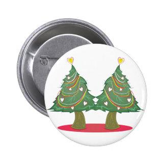 Xmas Trees 6 Cm Round Badge