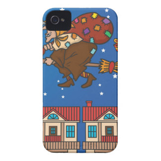 xmas witch Befana Case-Mate iPhone 4 Cases