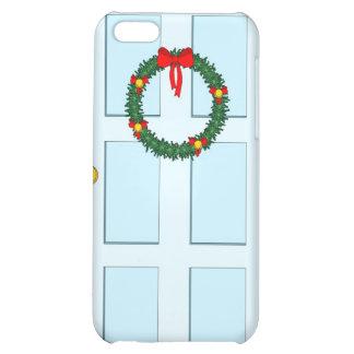 xmas wreath and blue door iPhone 5C cases