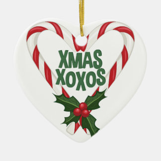 Xmas XOXOs Ceramic Heart Decoration