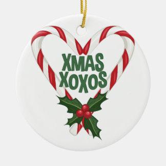 Xmas XOXOs Round Ceramic Decoration