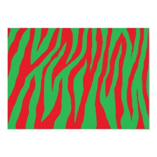 Xmas Zebra 13 Cm X 18 Cm Invitation Card