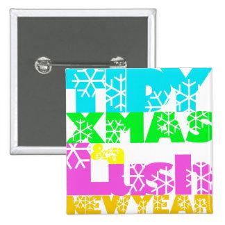 xmasbutton 15 cm square badge