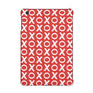 XO Kisses and Hugs Pattern Illustration red white