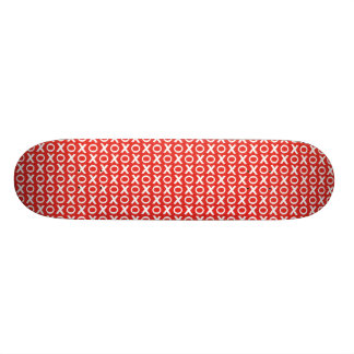 XO Kisses and Hugs Pattern Illustration red white 19.7 Cm Skateboard Deck