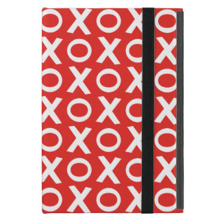 XO Kisses and Hugs Pattern Illustration red white Case For iPad Mini