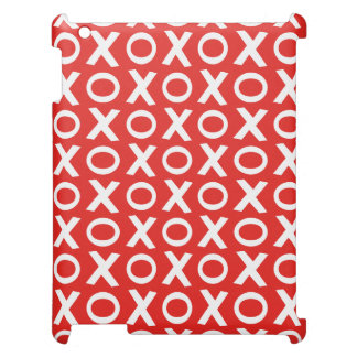 XO Kisses and Hugs Pattern Illustration red white Case For The iPad