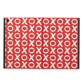 XO Kisses and Hugs Pattern Illustration red white Cover For iPad Air