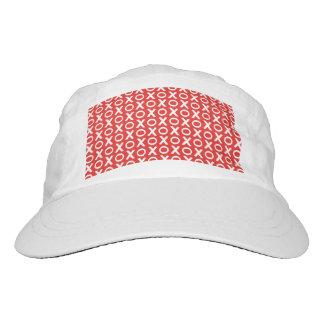 XO Kisses and Hugs Pattern Illustration red white Hat