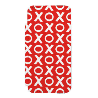 XO Kisses and Hugs Pattern Illustration red white Incipio Watson™ iPhone 5 Wallet Case