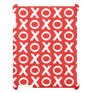 XO Kisses and Hugs Pattern Illustration red white iPad Case