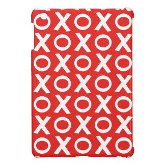 XO Kisses and Hugs Pattern Illustration red white iPad Mini Case