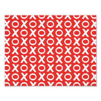 XO Kisses and Hugs Pattern Illustration red white Photograph