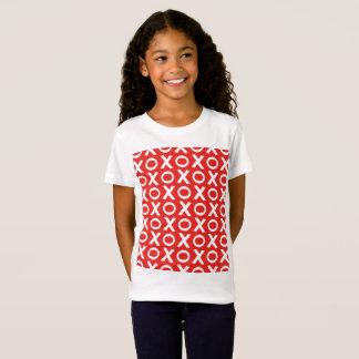 XO Kisses and Hugs Pattern Illustration red white T-Shirt