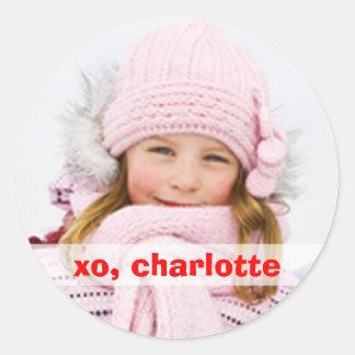 XO Round Closure Sticker 1