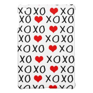 XO Valentines day pattern iPad Mini Cover
