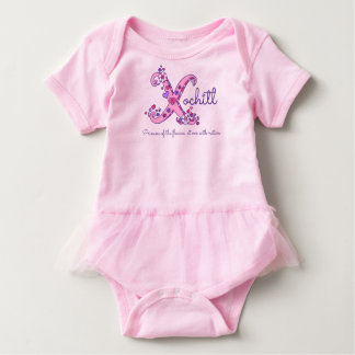 Xochitl girls X name meaning monogram kids shirt