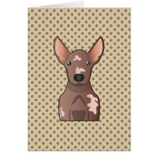 Xoloitzcuintli Cartoon Card