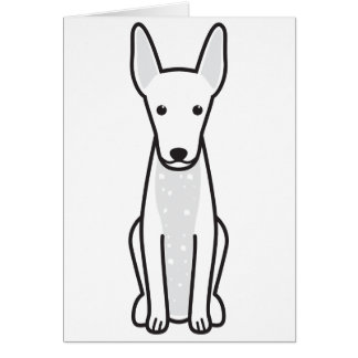 Xoloitzcuintli Dog Cartoon Card