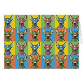 Xoloitzcuintli Dog Cartoon Pop-Art Card