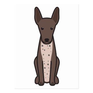 Xoloitzcuintli Dog Cartoon Postcard